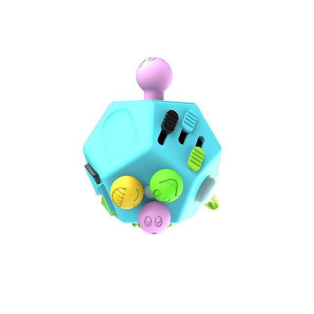 12 Sided Fidget Cube With Images Fidget Cube Stress Relief Toys Fidget Toys