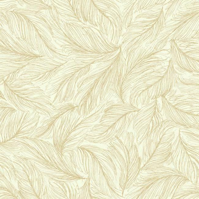 Light As A Feather Wallpaper In Cream And Gold By Antonina