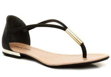 Sandália Flat Elegance Piton Cinza | Sandálias femininas