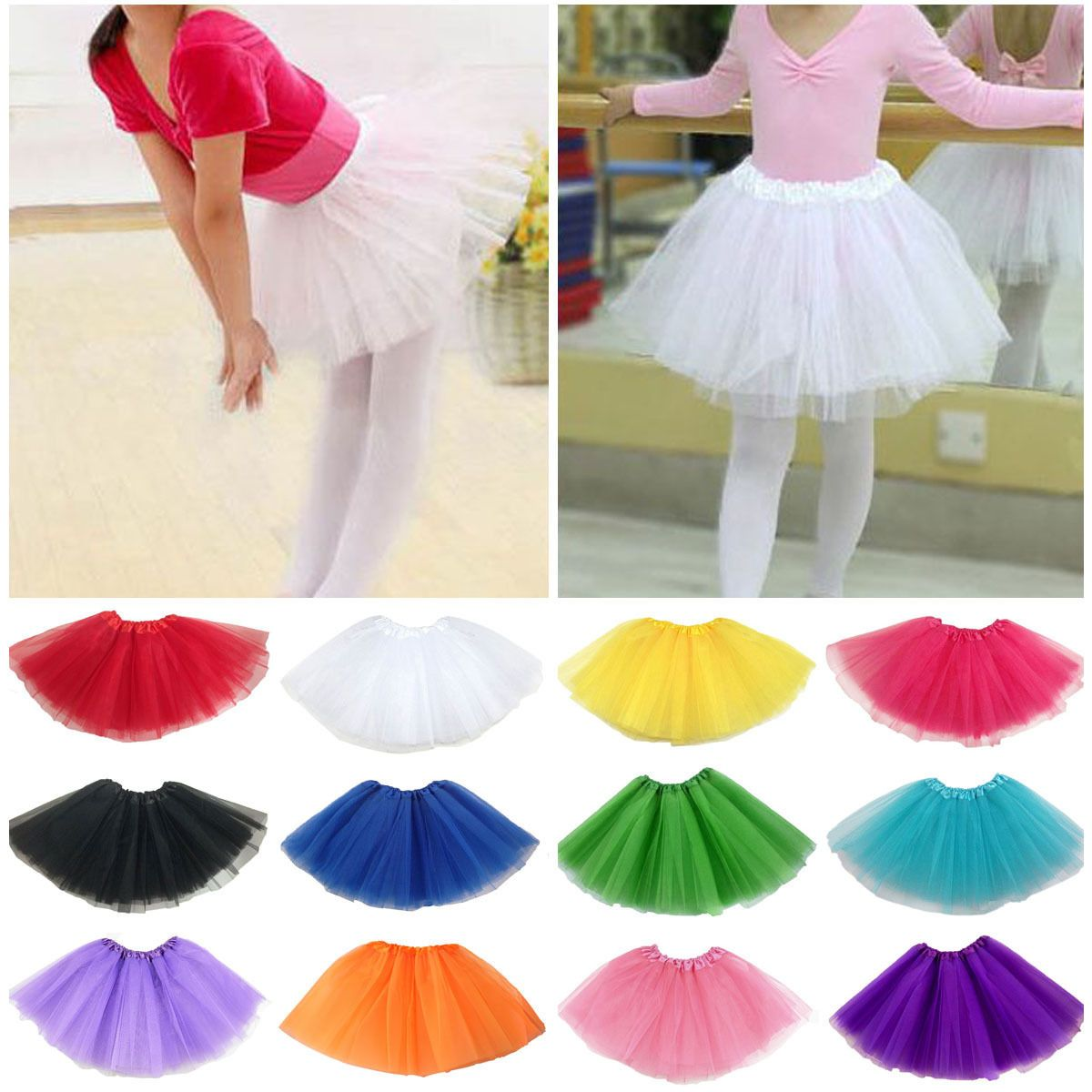 44f549a19b Ballet Tutu Princess Dress Up Dance Wear Costume Party Girls Toddler Kids  Skirt