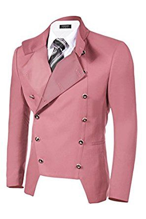 Coofandy Men's Casual Double-breasted Jacket Slim Fit Blazer at Amazon Men's Clothing store List Price: $79.99 Sale Price: $44.99 - $47.99