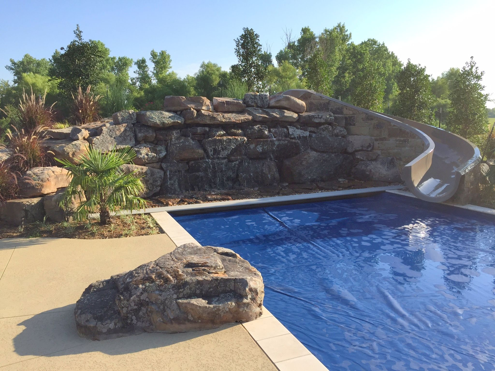 Water Slide for your home pool Backyards Pinterest