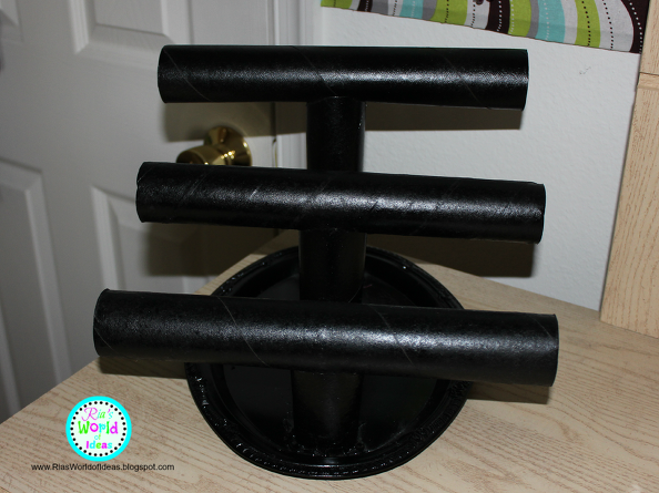 DIY Paper Towel Roll Jewelry Holder Jewellery holder Paper towel