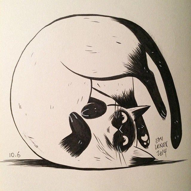 Cat Illustration Emi Lenox Illustration Inspiration