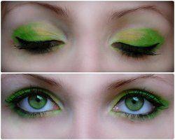 green make up by IkuLestrange