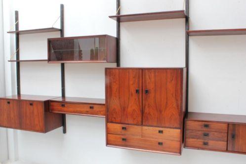 Vintage retro wandsysteem meubel kast jaren 50 60 for Jaren 50 60 meubels