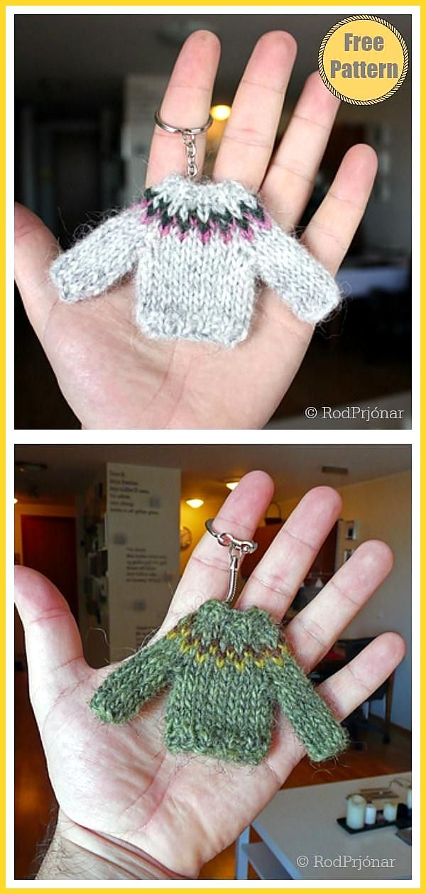 Photo of Tiny Sweater Ornament Gratis strikkeoppskrift