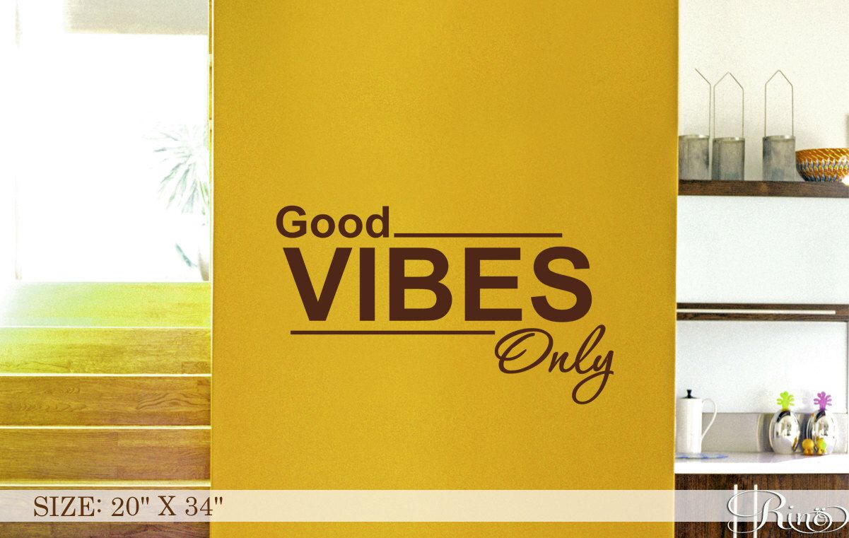 Good Vibes Only - Wall Art DECAL Inspirational quote Vinyl sticker ...
