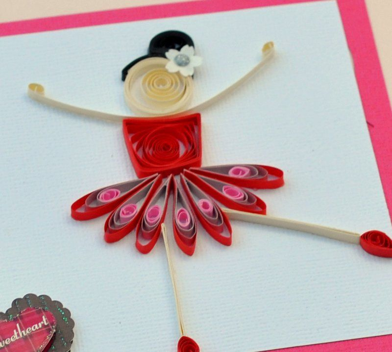 Quilled Girl Quilled Card Paper Quilling Quilled Ballerina ...