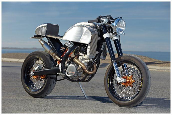 Engineered to Slide's '08 KTM 250 Café - Pipeburn - Purveyors of Classic Motorcycles, Cafe Racers & Custom motorbikes KTM motorbike