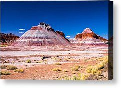 Painted Desert Teepees By David Waldo Desert Painting