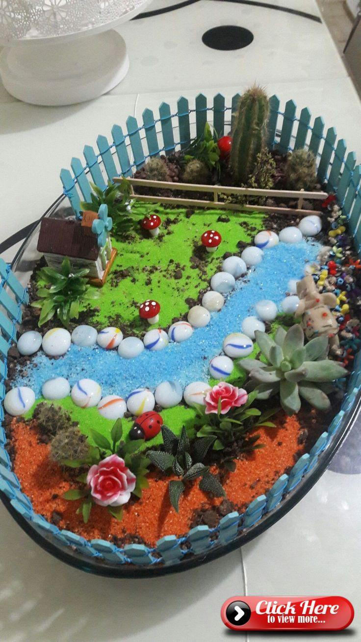Photo of Fairy Garden House Ideas. Fairy gardens seem to look best in a container of some…