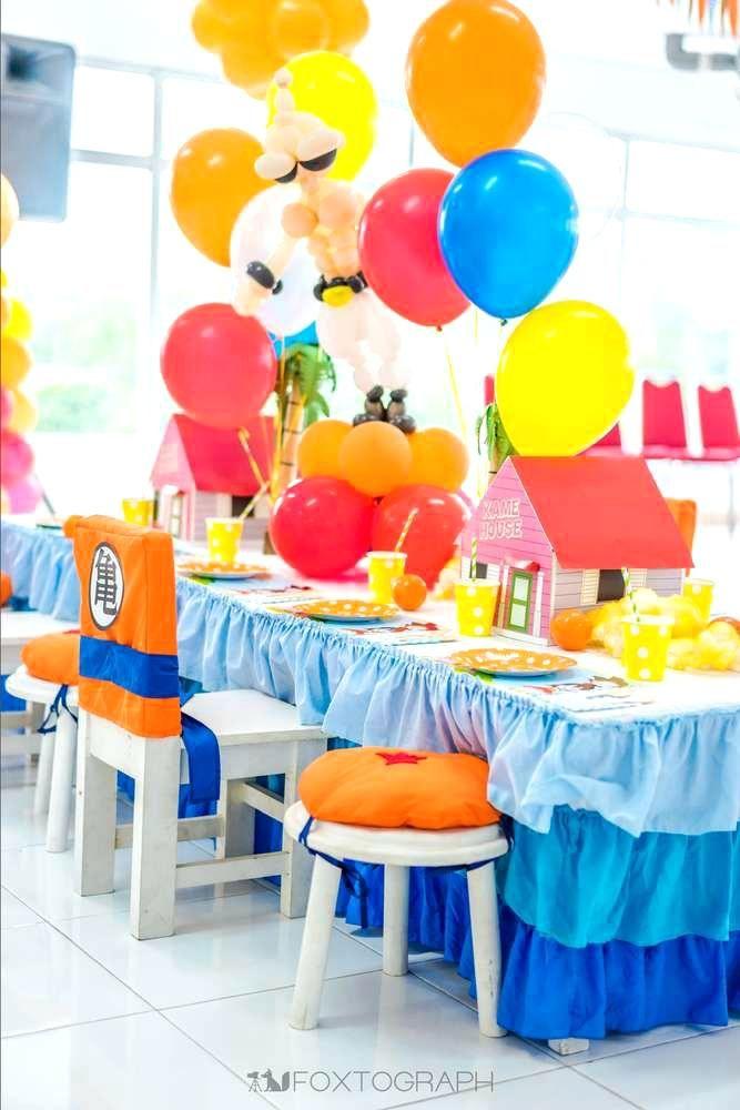 Fiestas infantiles de goku ideas para fiesta de dragon - Decoracion con globos para cumpleanos ...
