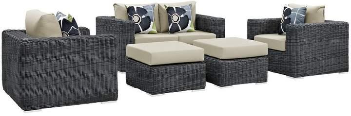 Incredible Brayden Studio Keiran 5 Piece Sunbrella Sofa Set With Beatyapartments Chair Design Images Beatyapartmentscom