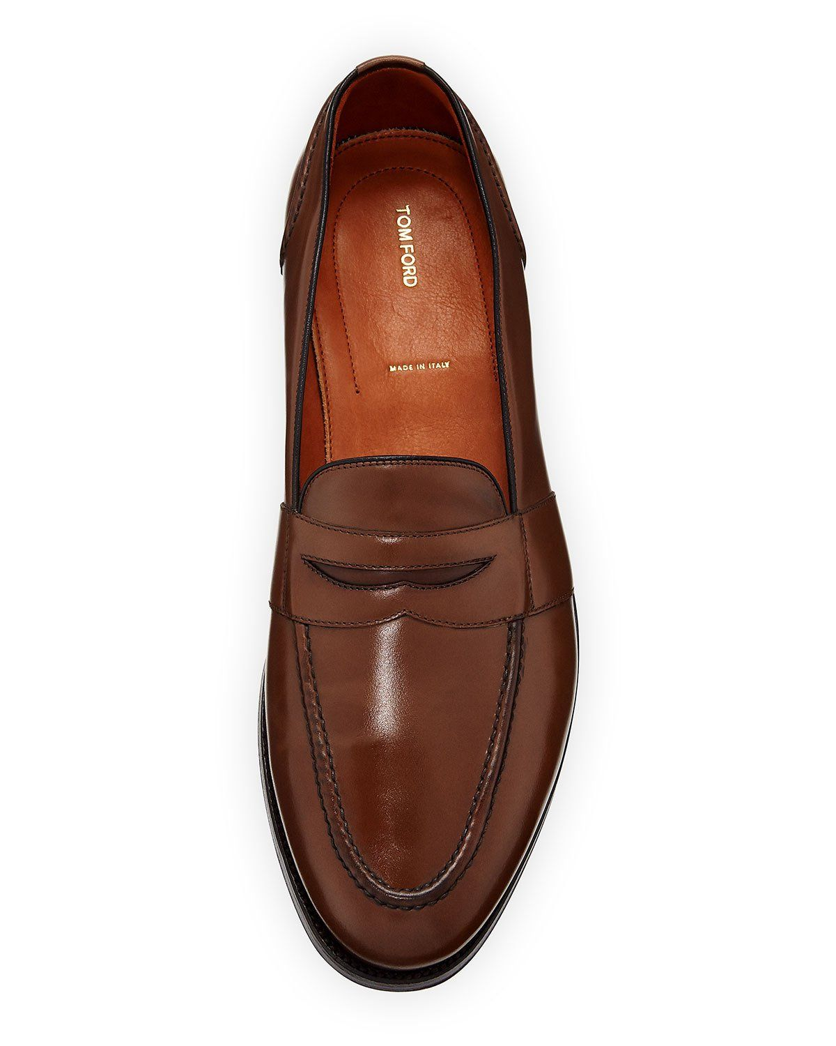 d32d44f2633 Tom Ford Calf Leather Penny Loafer