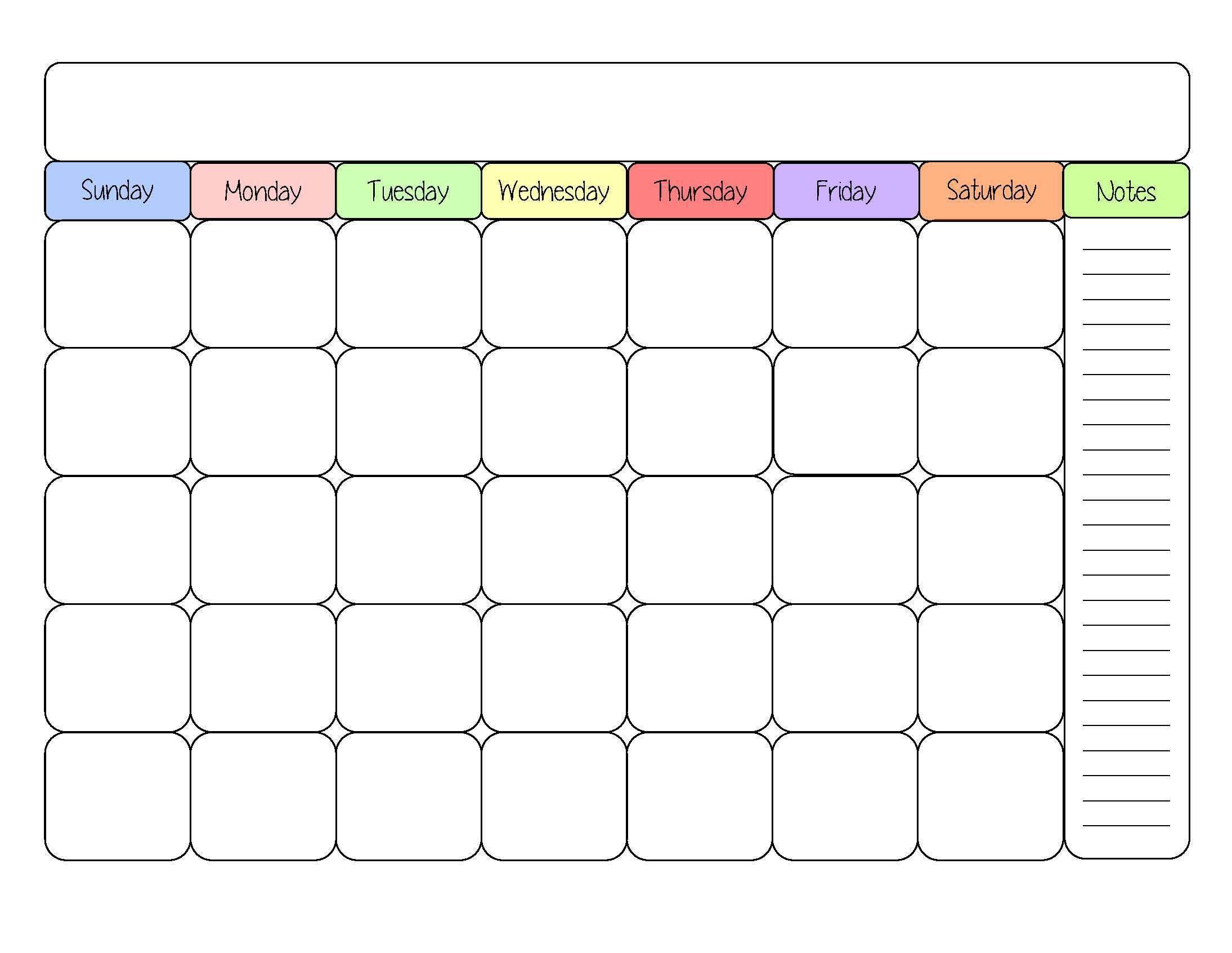 Cute Blank Calendar Templates Printable Calendar Template Blank