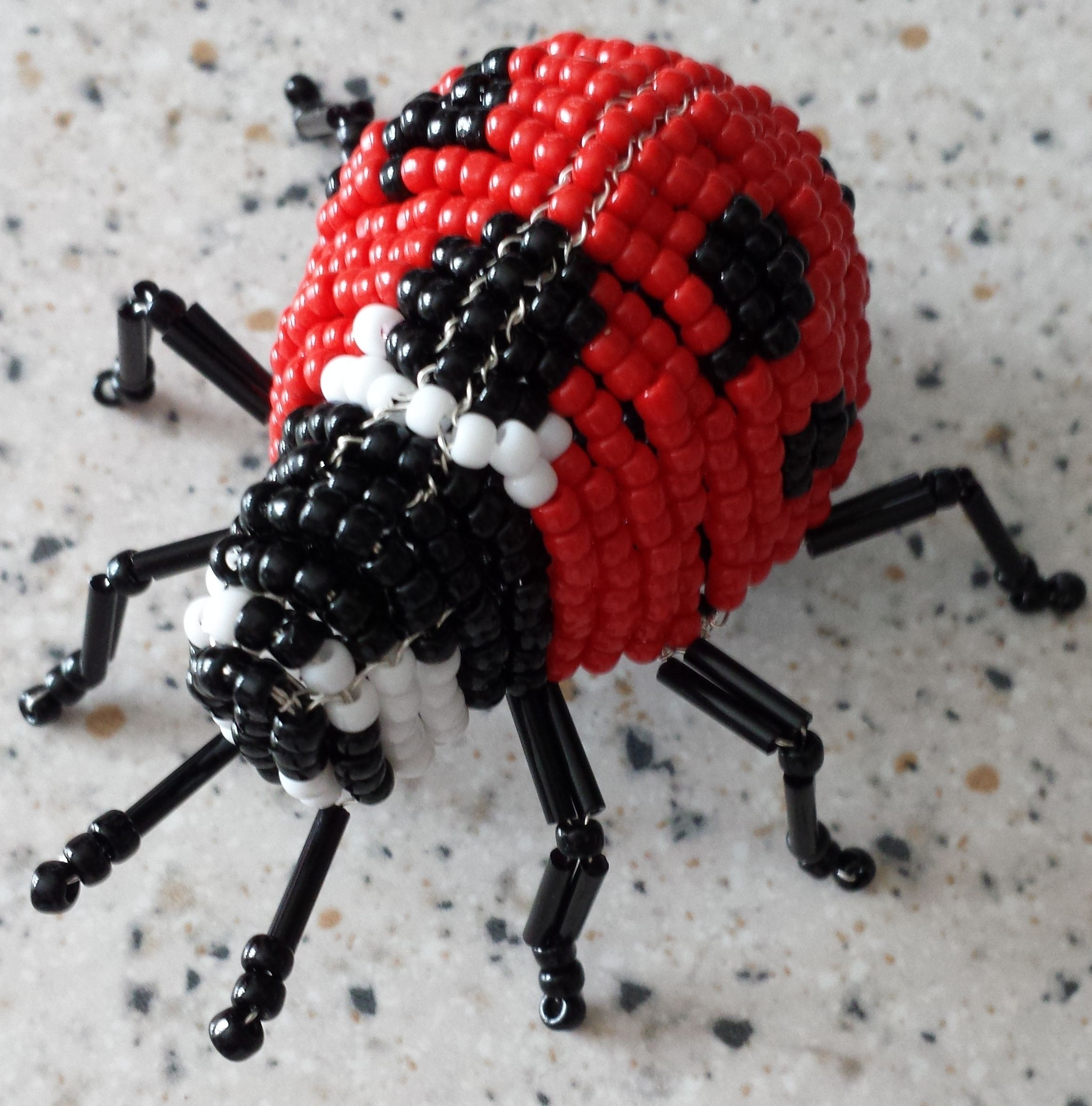 Lady bug made with wire and beads | Nietzsche\'s Craft Work ...