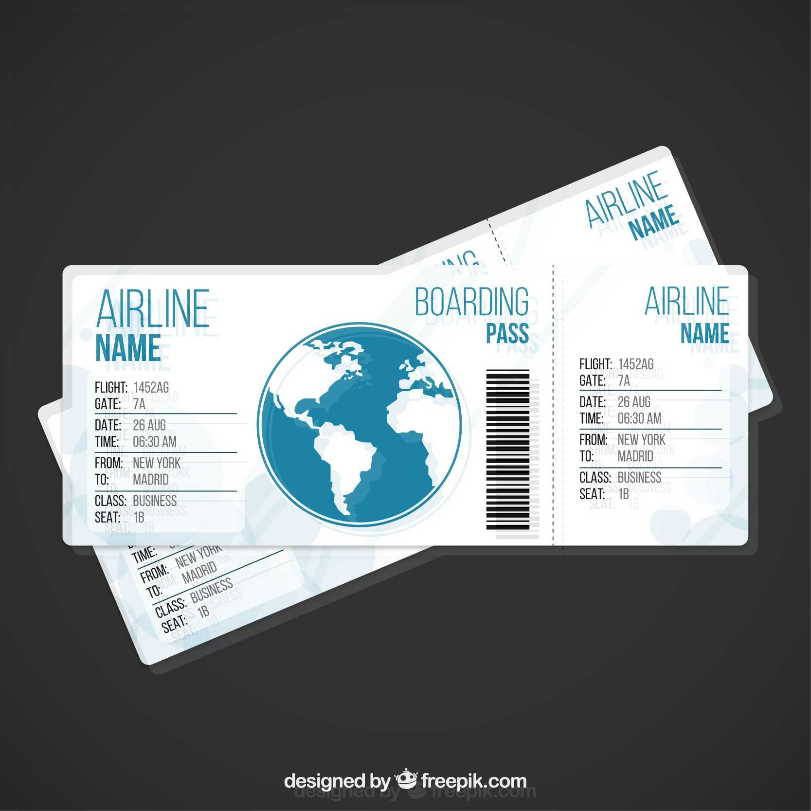 Airplane Ticket Template - FREE | Print Templates | Pinterest | gute ...