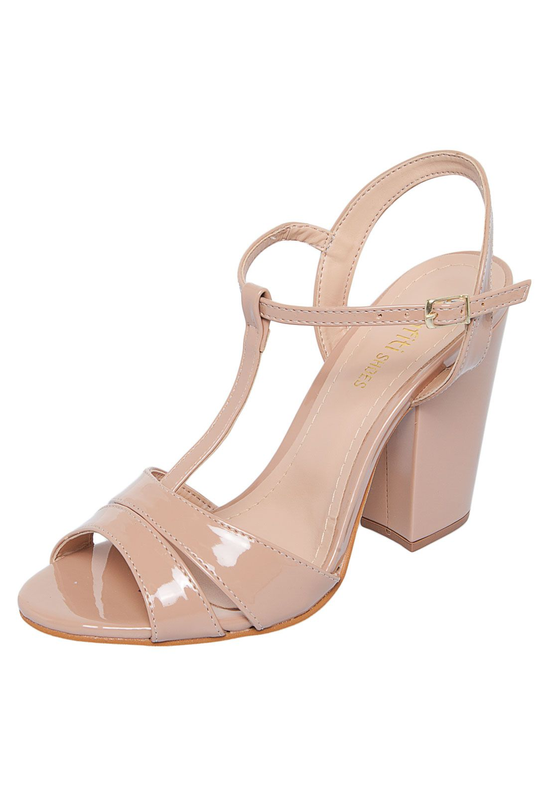 6bef432473d Sandália DAFITI SHOES Verniz Nude - Marca DAFITI SHOES