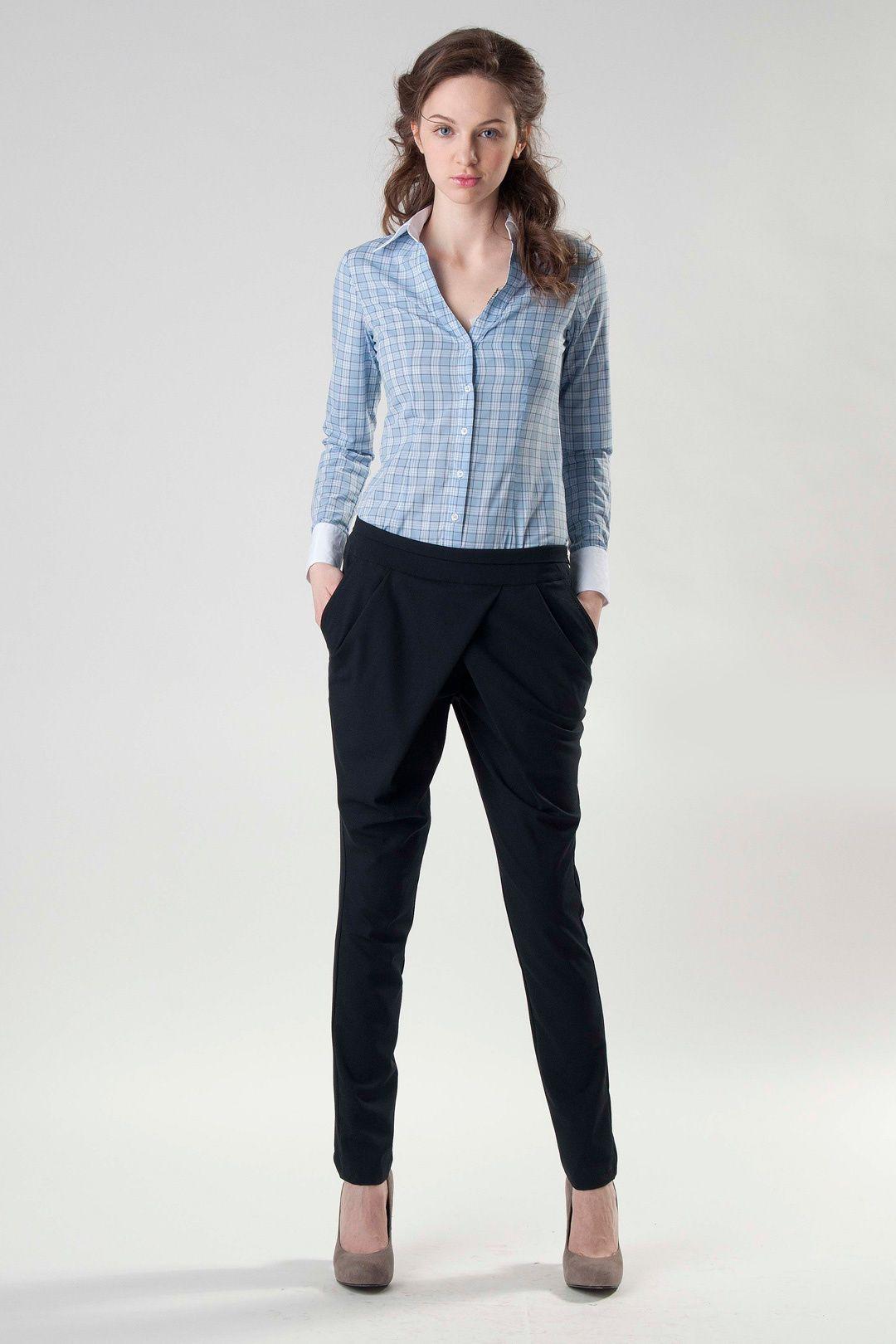C чем носить голубые брюки: готовое решение в 41 look's