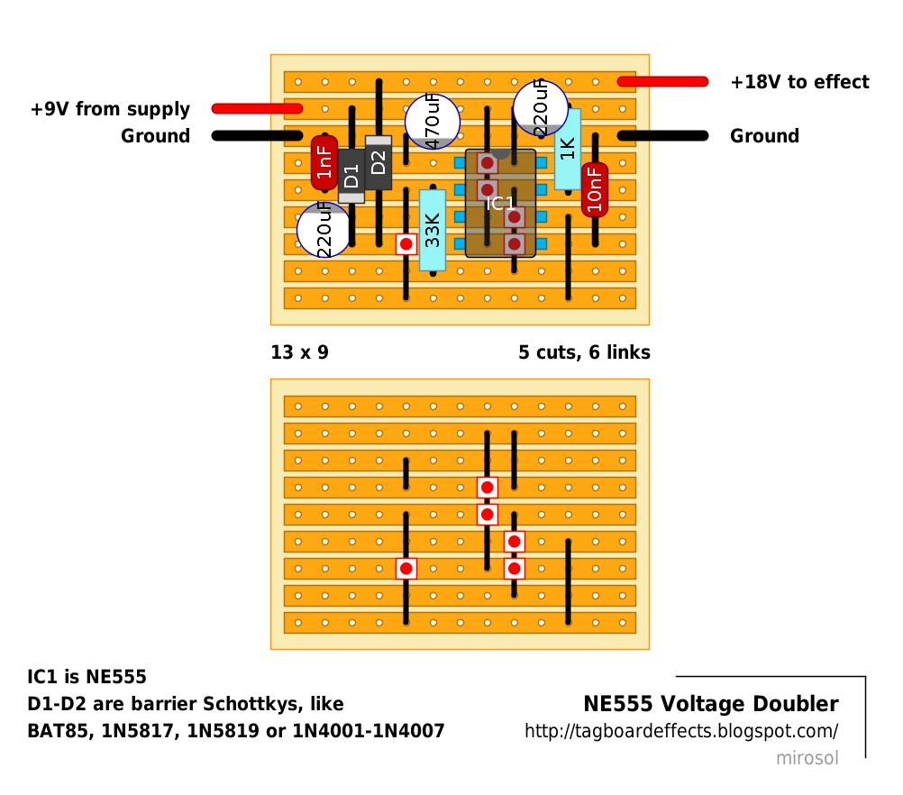 guitar fx layouts ne555 voltage doubler circuits and such rh pinterest com