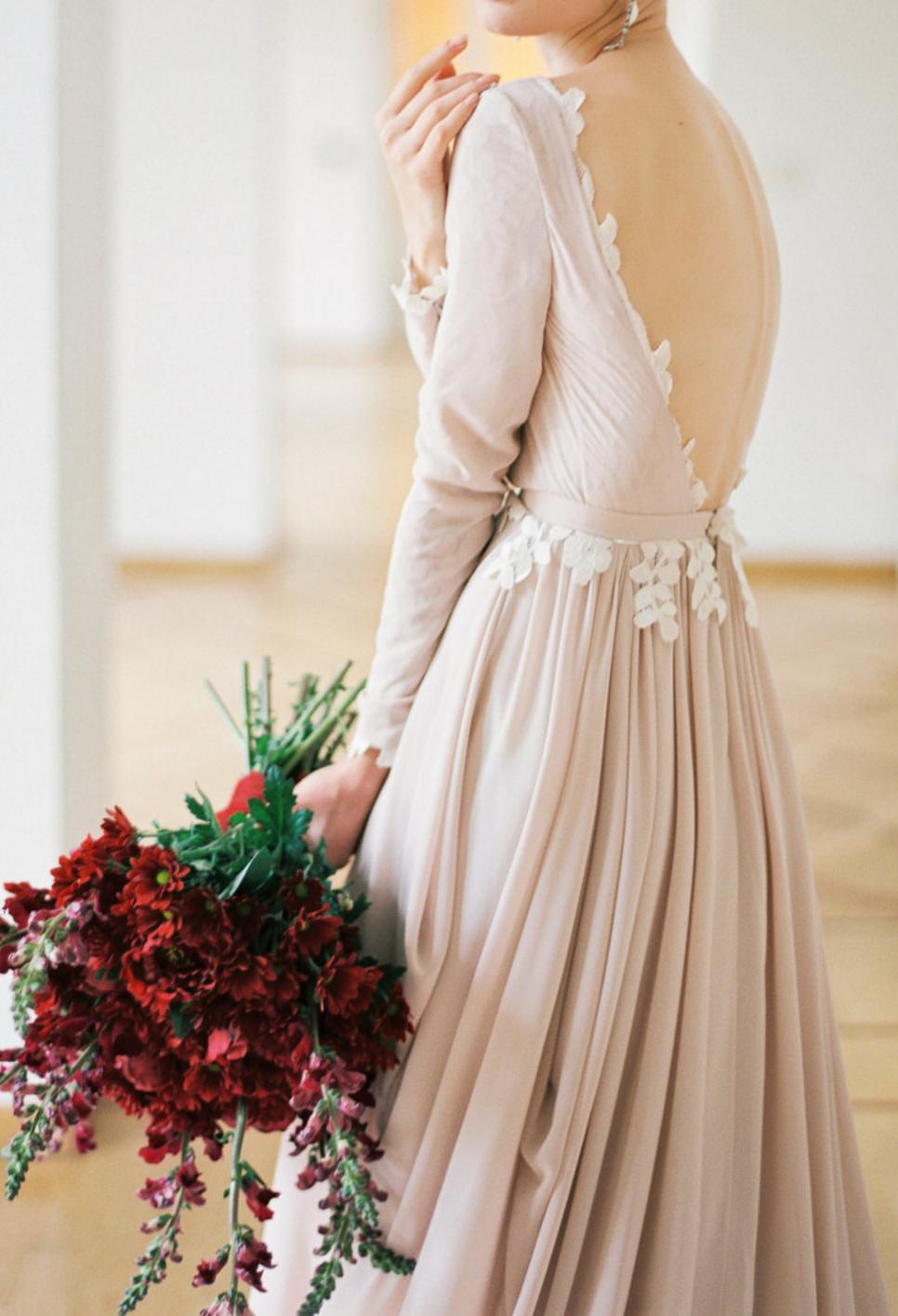 Handmade silk chiffon wedding gown cathytelle on etsy our gypsy