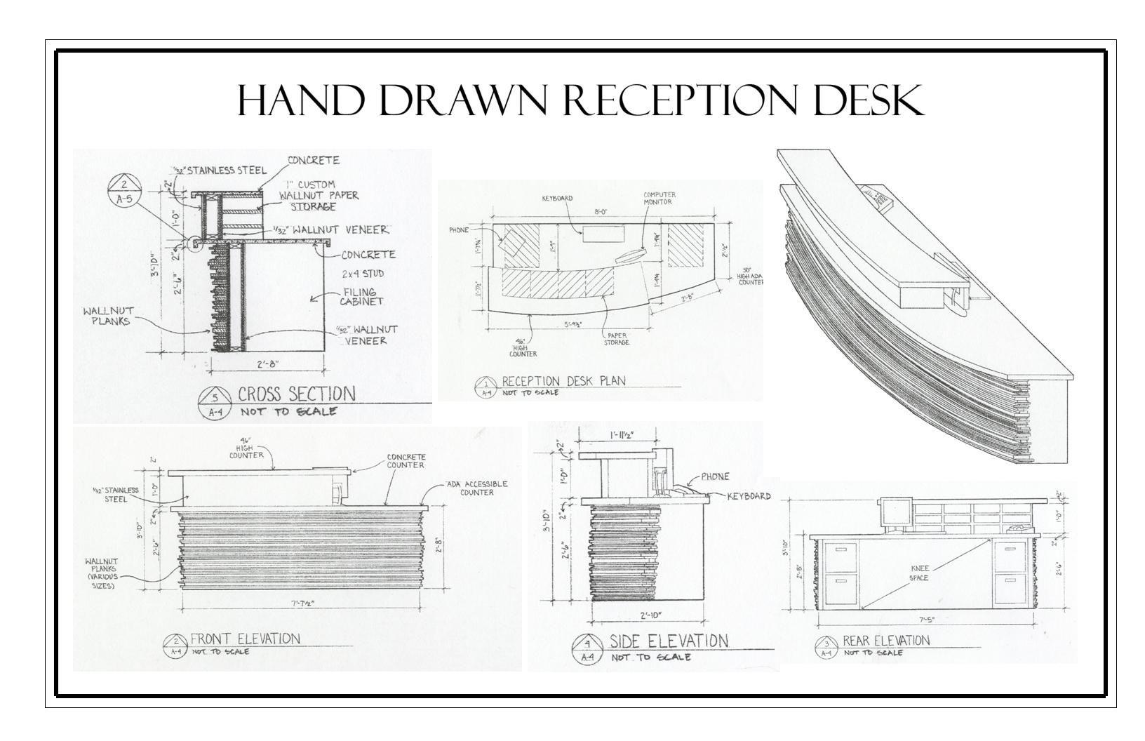 Portfolio By Carolann Bond At Coroflot Com Reception Desk Design Office Reception Desk Designs Reception Desk Drawing