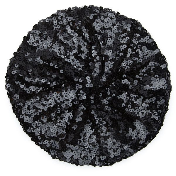 Forever 21 Women's  Sequined Beret ($8.90) ❤ liked on Polyvore featuring accessories, hats, beret hat, forever 21 hats, sequin beret, cocktail hat and holiday hats
