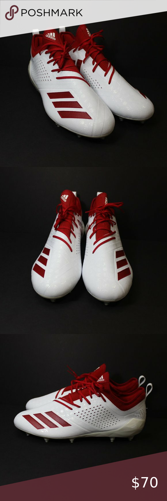 Adidas Adizero 5 Star 7 0 Emoji Football Cleats In 2020 Red Adidas Football Cleats Adidas Men
