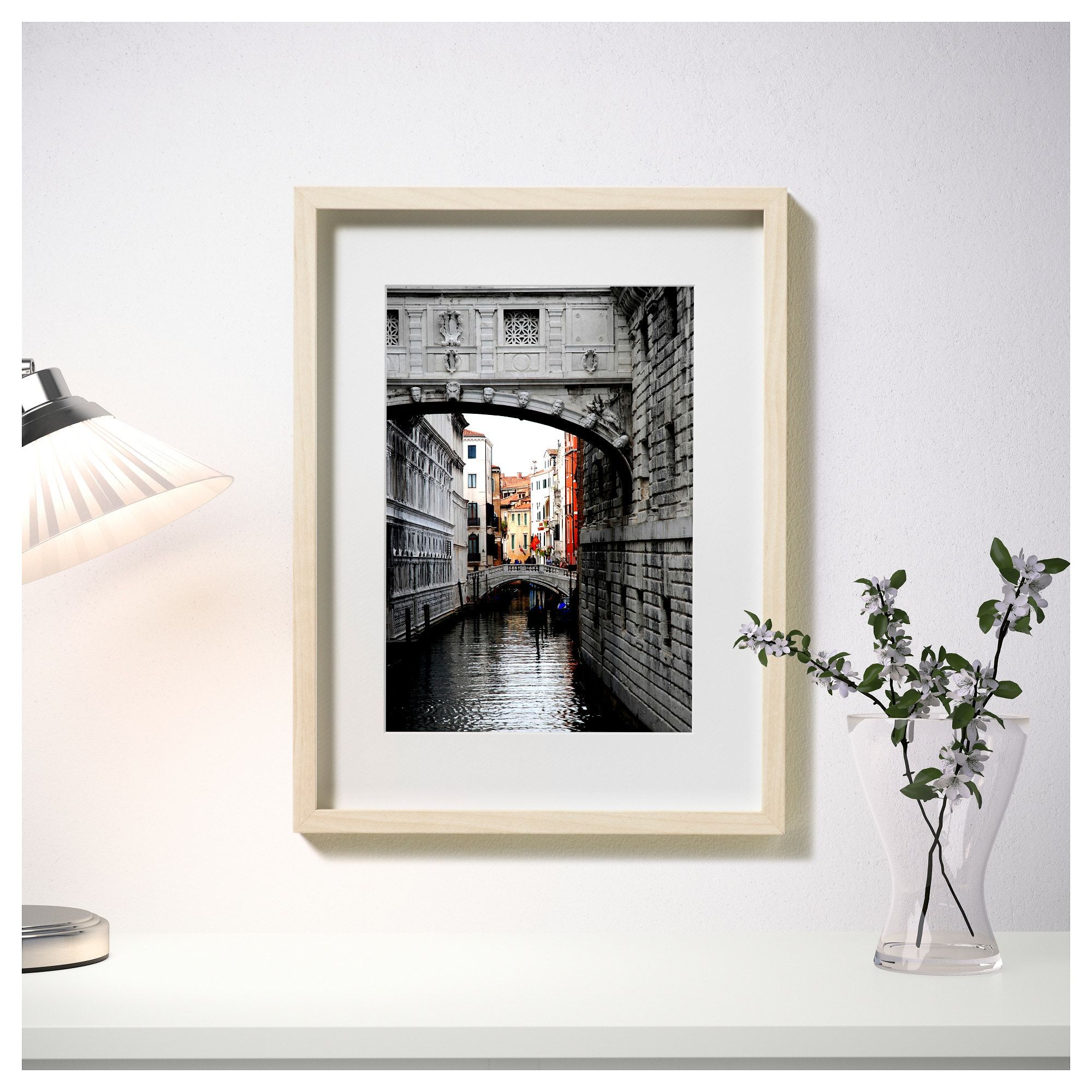 IKEA HOVSTA Frame birch effect Ikea picture frame