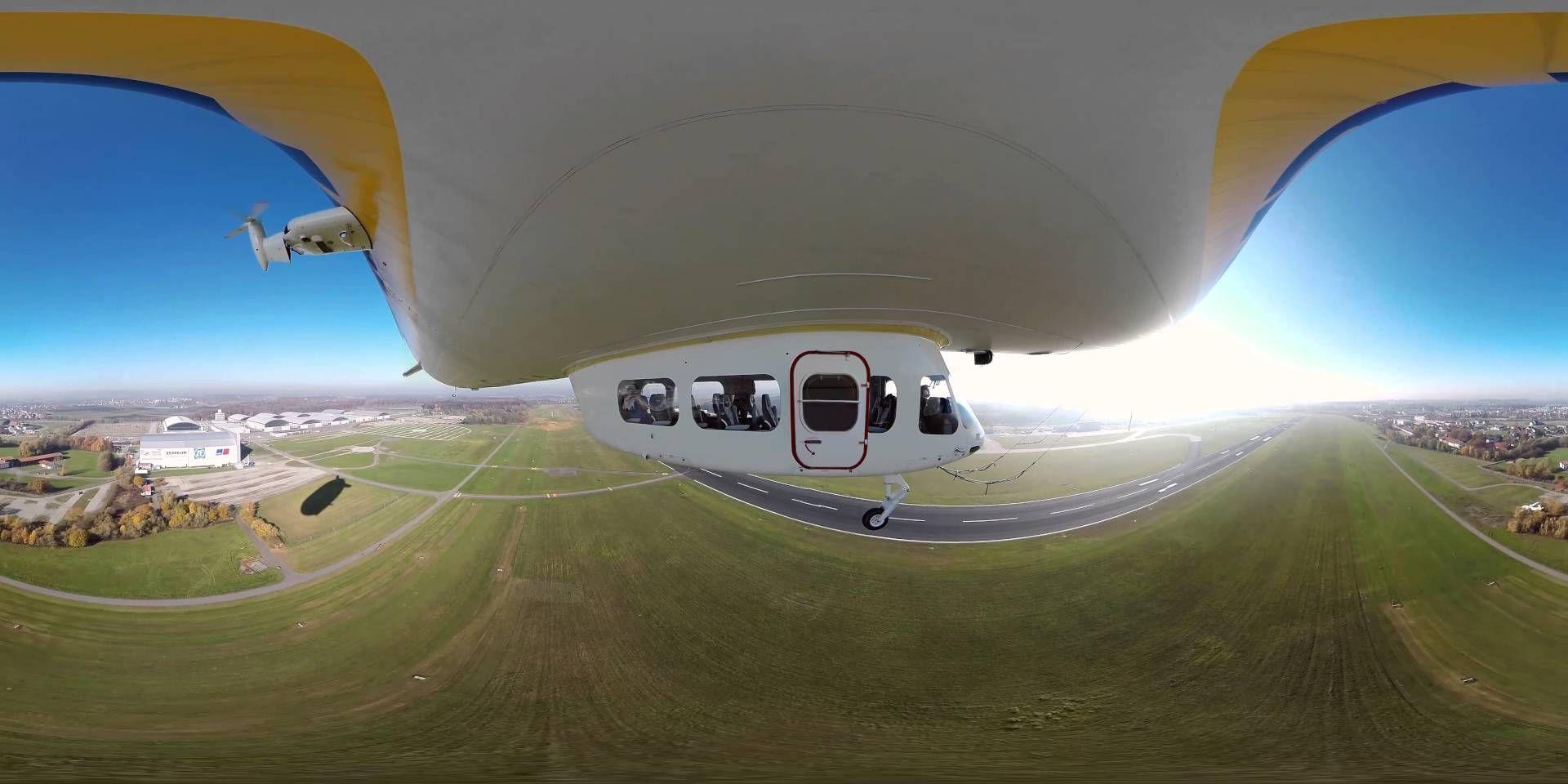 <p>4 WELTPREMIERE: my-panorama.de präsentiert das weltweit erste 360 Grad Video während eines Passagierflugs des weltbekannten Zeppelin NT aus Friedrichshafen. Der Flug ging von Friedrichshafen über den Bodensee (der sich unter den Wolken versteckt) bis nach St. Gallen in der Schweiz. Wir bedanken uns bei der Zeppelin ZLT Zeppelin Luftschifftechnik GmbH & CO KG und der Deutschen Zeppelin-Reederei GmbH für die Drehgenehmigungen und Unterstützung für dieses 360° Video. Dieses Video kann m...