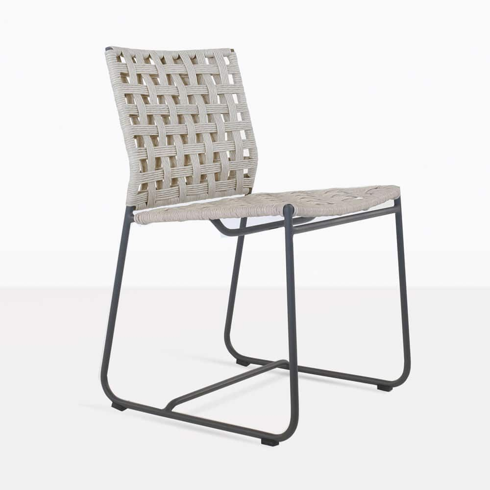Teak Warehouse S Mayo Outdoor Wicker Chair Is Woven Using