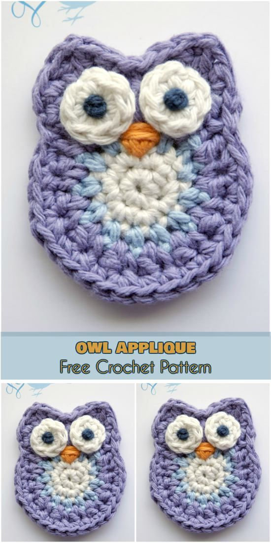 Owl Applique or Softie Free Crochet Patterns