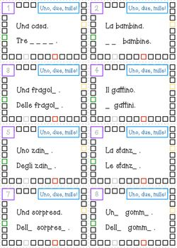 *free for a limited time* -  Uno, due, mille! - Italian Plurals Task Cards
