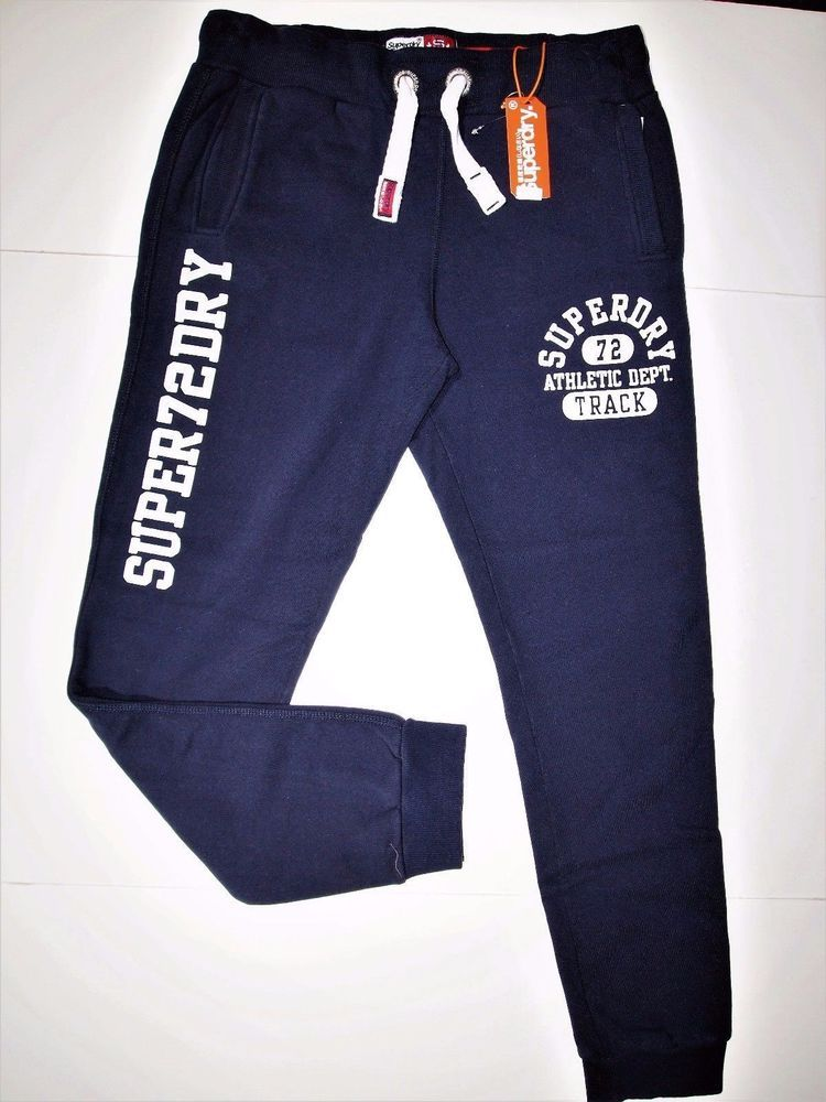 4fd66a240845 Superdry trackster graphic print jogger men s pants navy blue  Superdry   Jogging
