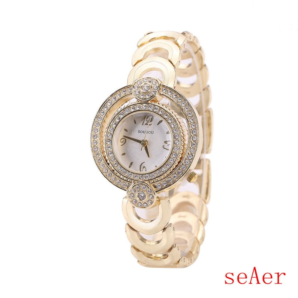 Click to buy ucuc new fashion female clocks women luxury quartz watch