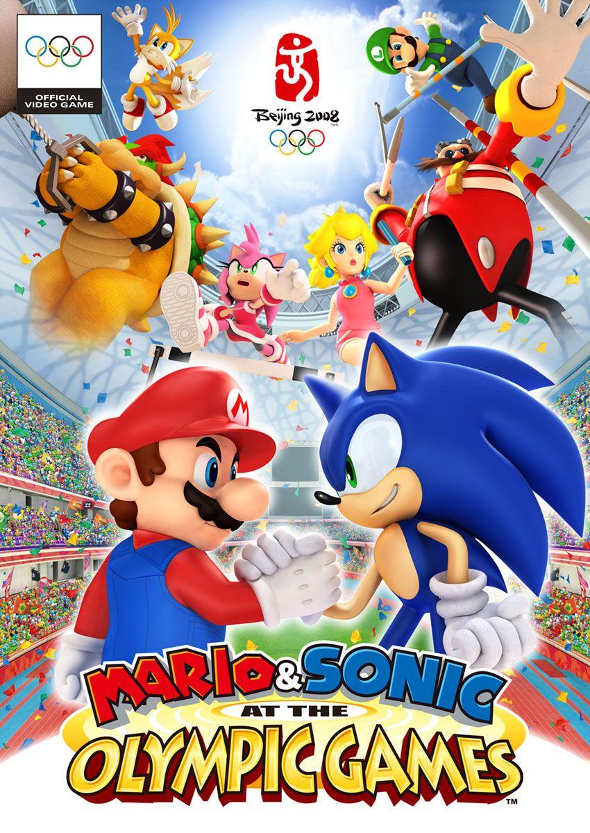 Box Art Mario Sonic à La Galerie D Art Des Jeux Olympiques Sonic Super Mario Art Olympic Games