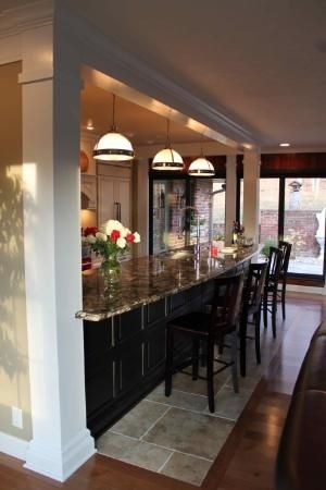 I love this 17\u0027 bar area separating the kitchen and dining room by
