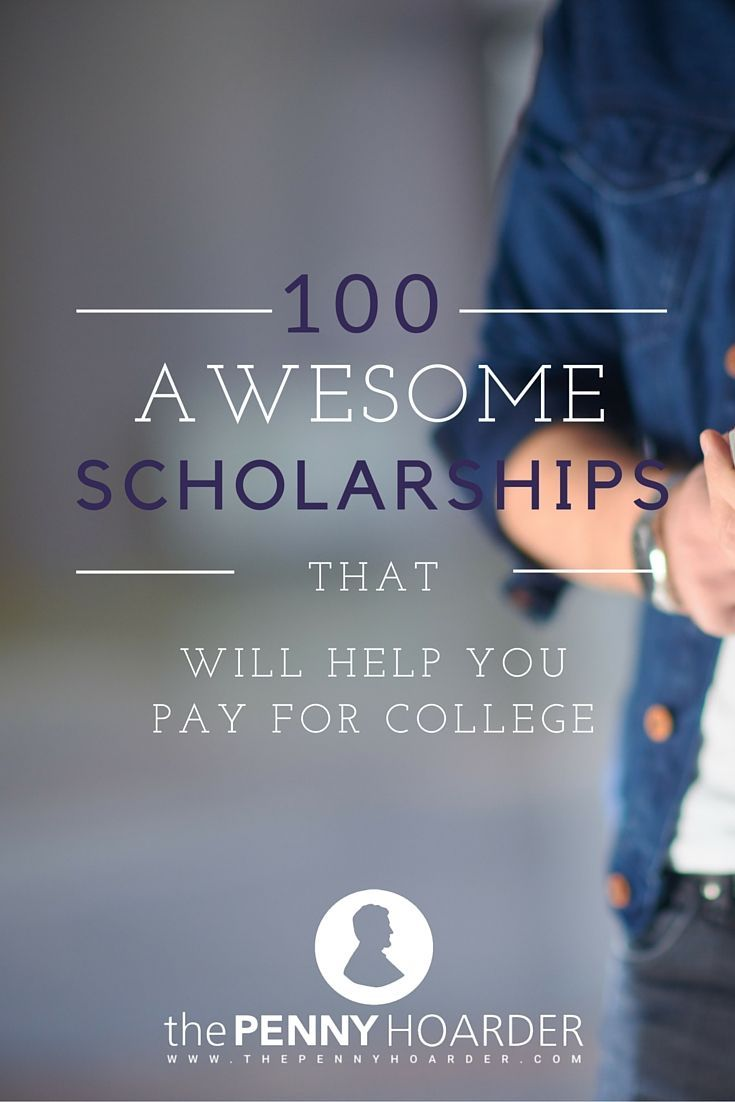 You don't need to get straight A's, be in dire financial straits or go to a ton of activities after school every day to win a scholarship. In some cases, a special skill or interest area — like weird ways to earn or save money — can help you win an award to use toward tuition, housing or even textbooks.