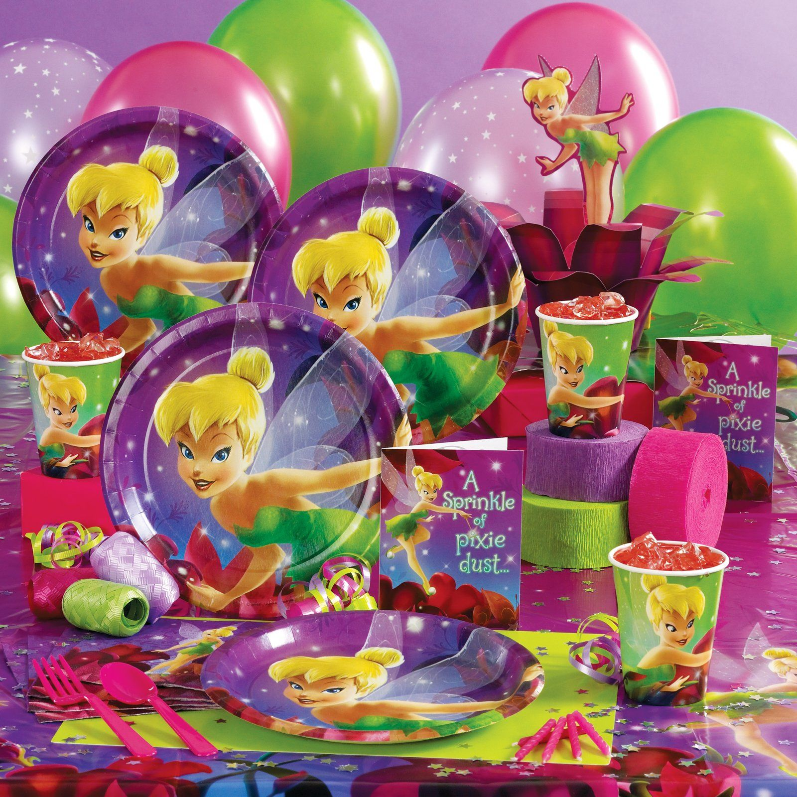 Tinker Bell Party Supplies | Tinkerbell party, Girls ...