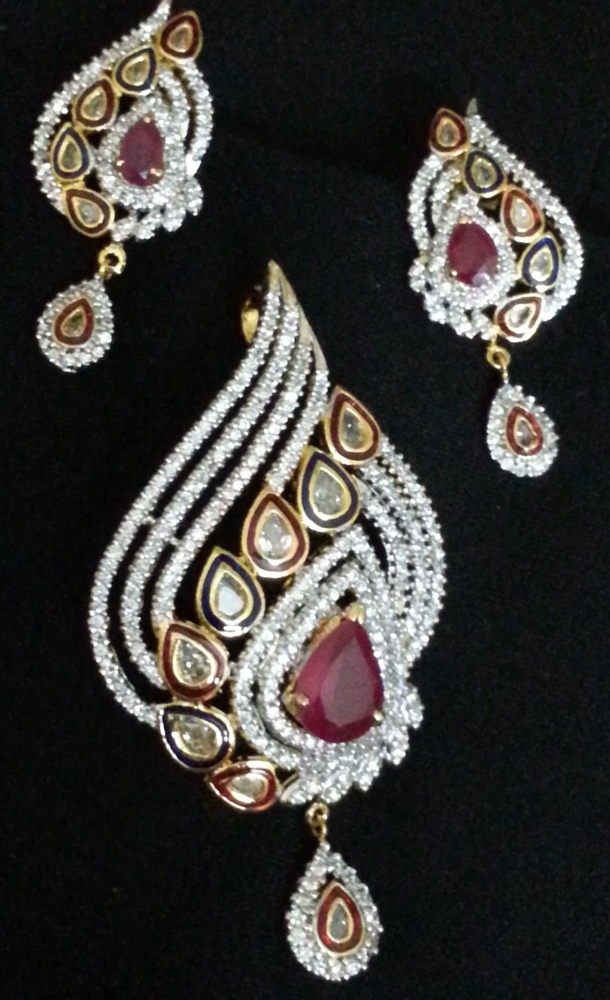 Buy american diamond pendant set online shopping for pendants by