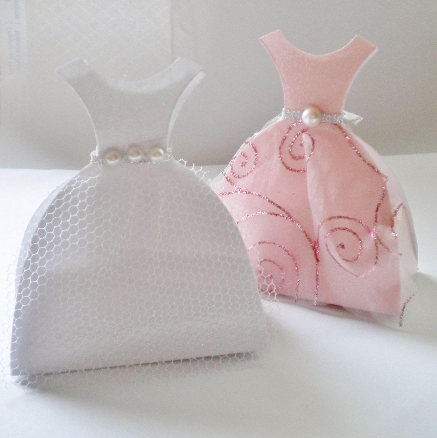 Wedding Dress Favor Boxes Set Of 4 By Nicegifts On Etsy Modern