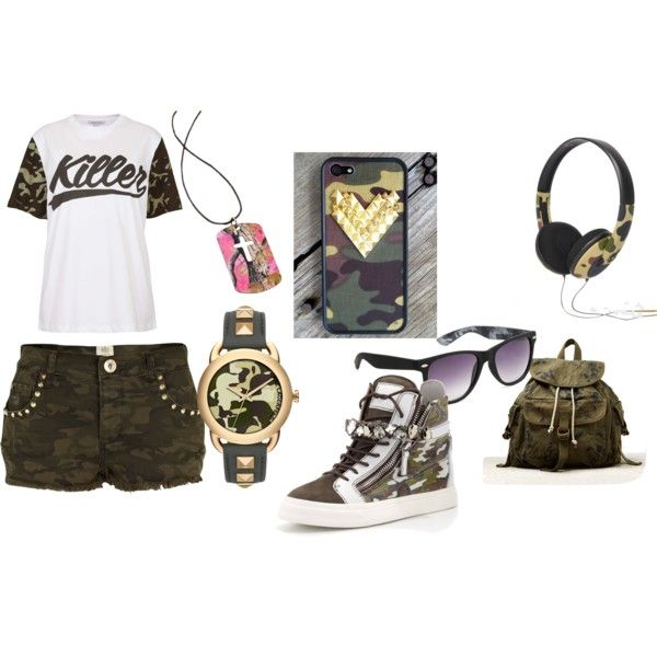"""""""Camo all the way"""" by beesapphire on Polyvore"""