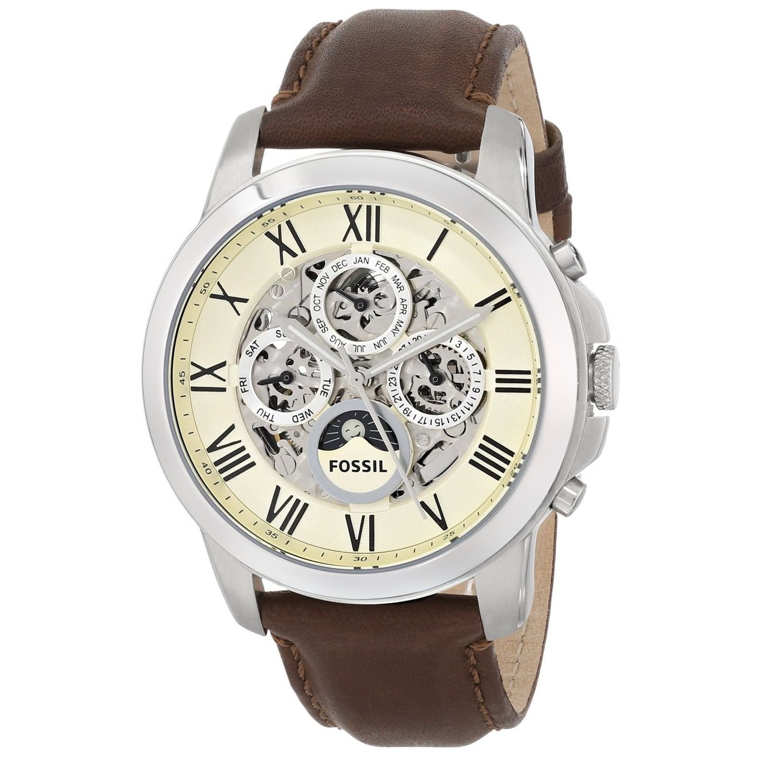 ccb27311a223 Fossil Men s Grant ME3027 Brown Automatic Watch