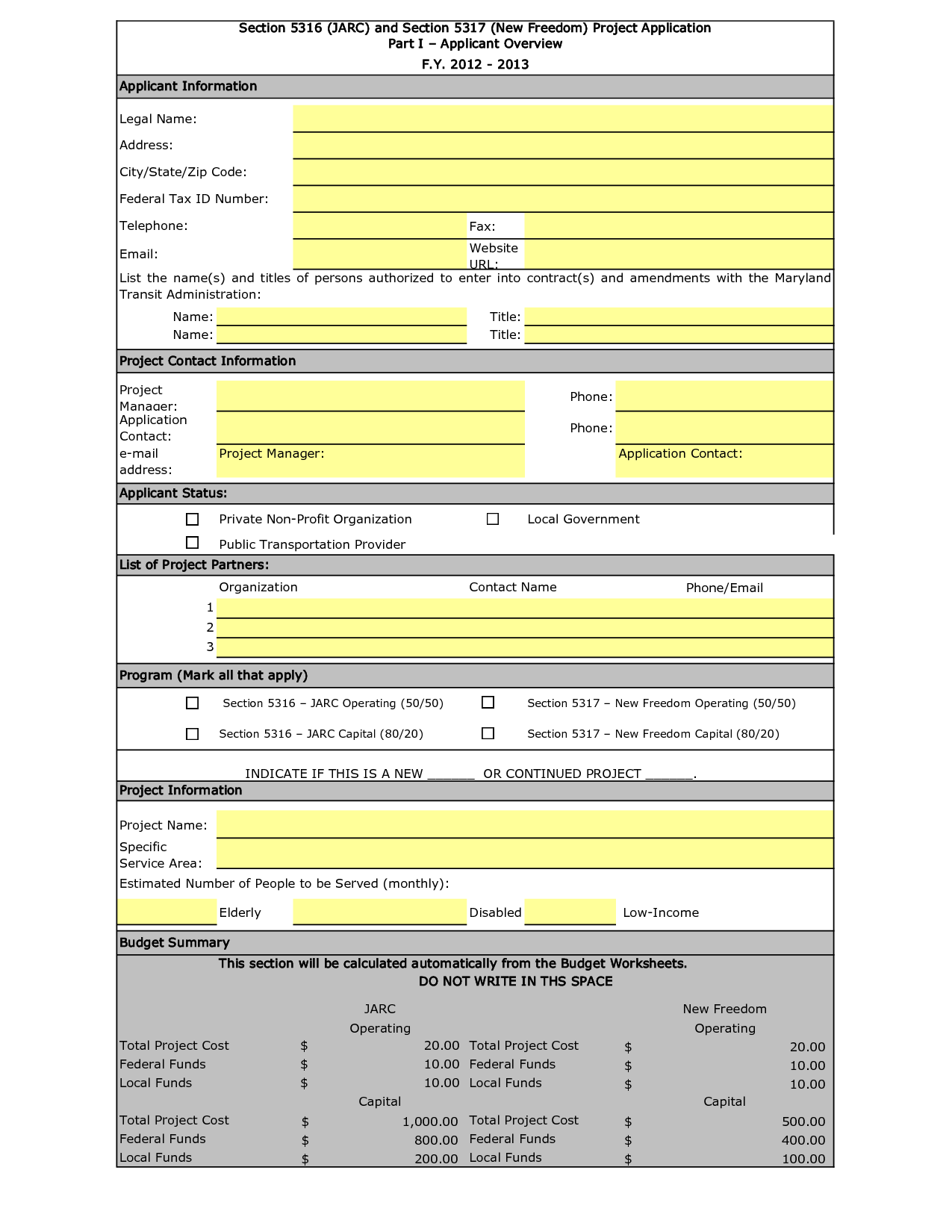 Non Profit Budget Spreadsheet In