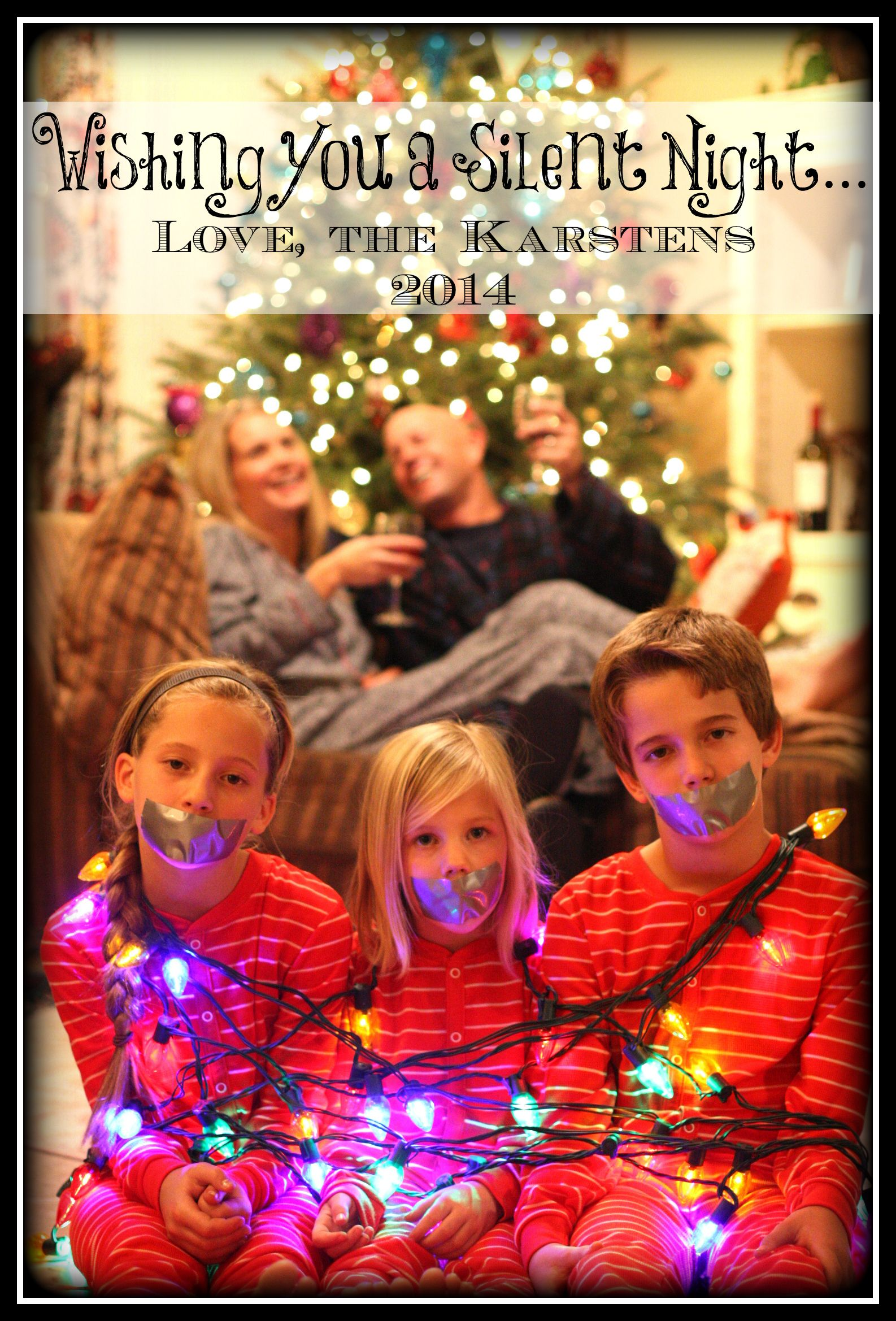 this year's christmas card  funny family christmas