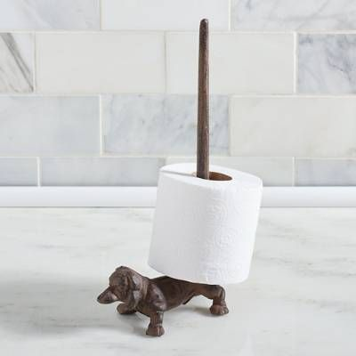 Dachshund Paper Towel Holder Adorable Dog Tail Hooks Set Of Two  Traffic Conditions Dachshunds And Dog Decorating Design