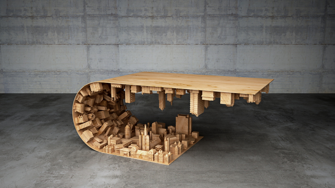 A Mind-Bending Coffee Table Straight Out of 'Inception'