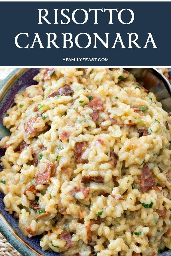 Photo of Risotto Carbonara – A Family Feast®