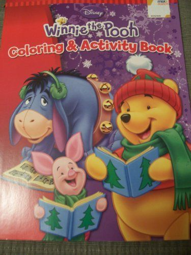 Disney Winnie the Pooh Coloring  Activity Book ~ Christmas Edition